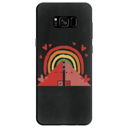 Triangles Rainbow Samsung Galaxy S8 Case Designed By Dirjaart