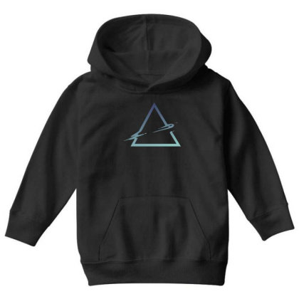 Triangle Abstract Youth Hoodie Designed By Dirjaart