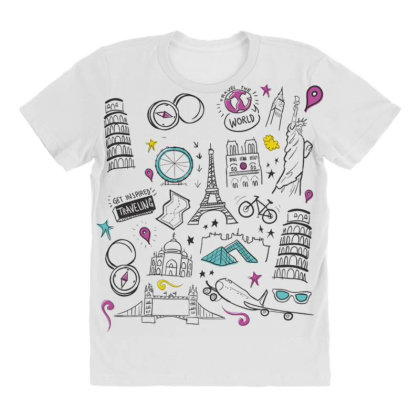 Travel All Over Women's T-shirt Designed By Dirjaart