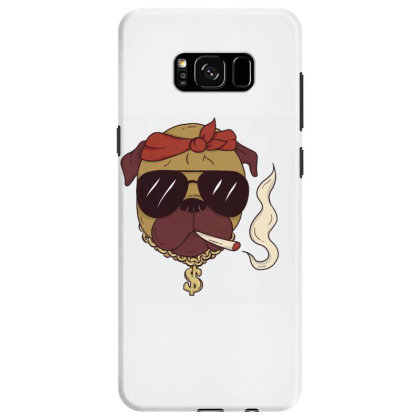 Thug Pug Samsung Galaxy S8 Case Designed By Dirjaart