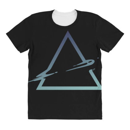 Triangle Abstract All Over Women's T-shirt Designed By Dirjaart