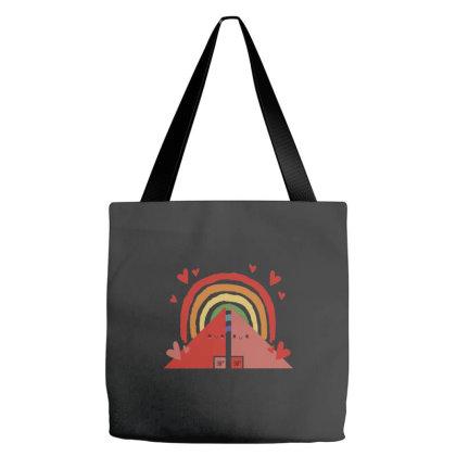 Triangles Rainbow Tote Bags Designed By Dirjaart