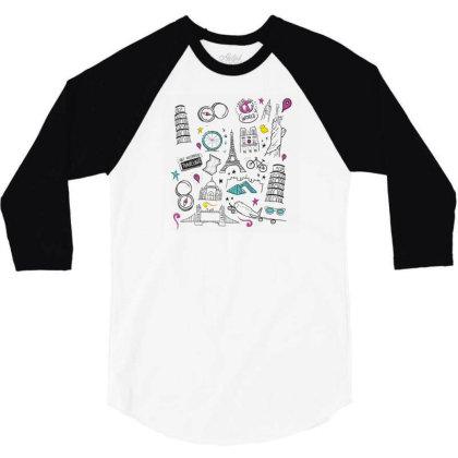 Travel 3/4 Sleeve Shirt Designed By Dirjaart
