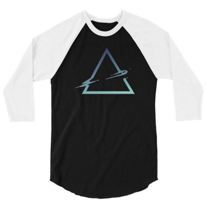 Triangle Abstract 3/4 Sleeve Shirt Designed By Dirjaart