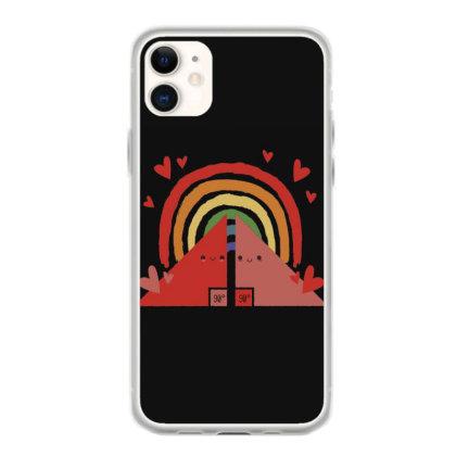 Triangles Rainbow Iphone 11 Case Designed By Dirjaart