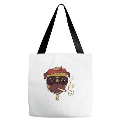 Thug Pug Tote Bags Designed By Dirjaart