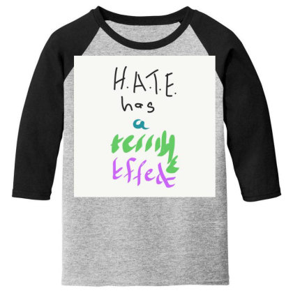 H.a.t.e Youth 3/4 Sleeve Designed By Kiss
