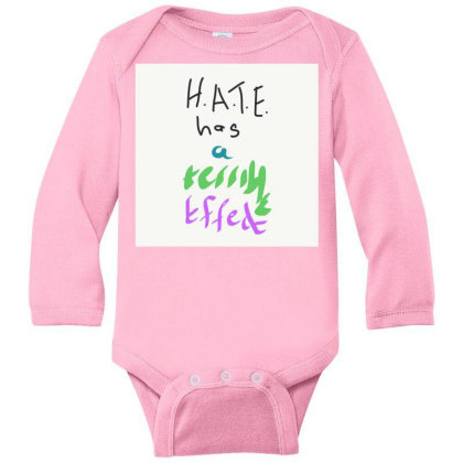 H.a.t.e Long Sleeve Baby Bodysuit Designed By Kiss