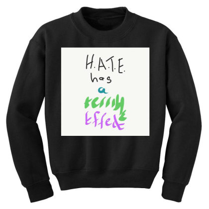 H.a.t.e Youth Sweatshirt Designed By Kiss