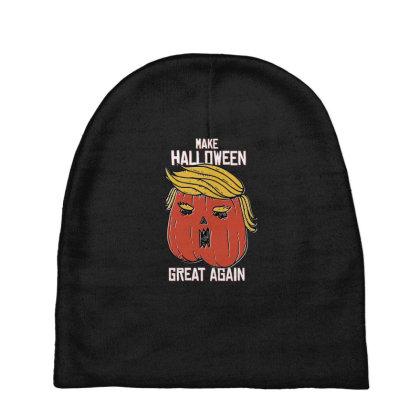 Trumpkin Halloween Pupmkin Baby Beanies Designed By Dirjaart