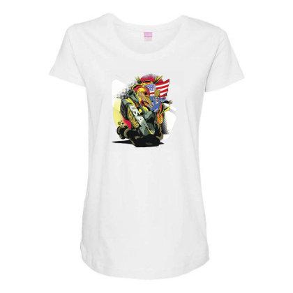 Trump Tank Maternity Scoop Neck T-shirt Designed By Dirjaart