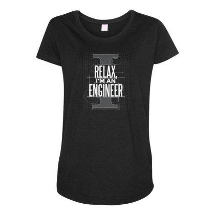 Trust Me Engineer Maternity Scoop Neck T-shirt Designed By Dirjaart