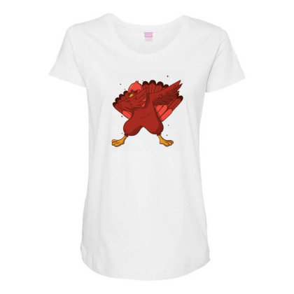 Turkey Dab Maternity Scoop Neck T-shirt Designed By Dirjaart