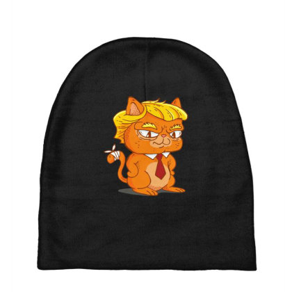 Trump Cat Cartoon Baby Beanies Designed By Dirjaart