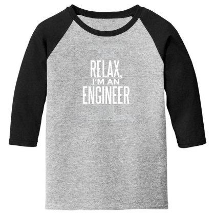 Trust Me Engineer Youth 3/4 Sleeve Designed By Dirjaart