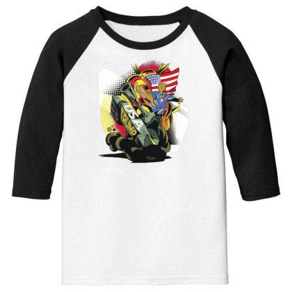 Trump Tank Youth 3/4 Sleeve Designed By Dirjaart