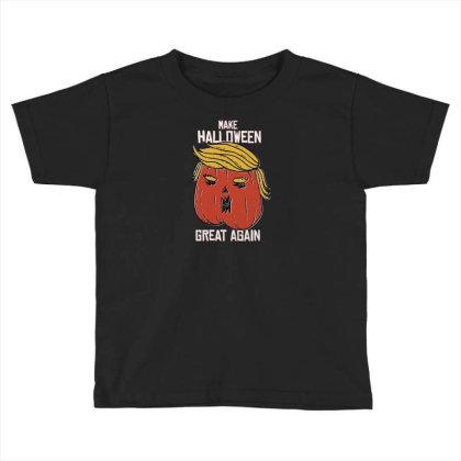 Trumpkin Halloween Pupmkin Toddler T-shirt Designed By Dirjaart