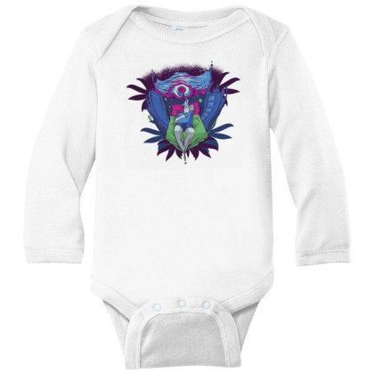 Trippy Portal Long Sleeve Baby Bodysuit Designed By Dirjaart