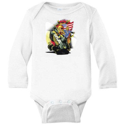 Trump Tank Long Sleeve Baby Bodysuit Designed By Dirjaart