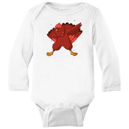 Turkey Dab Long Sleeve Baby Bodysuit Designed By Dirjaart