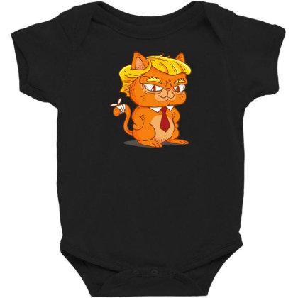 Trump Cat Cartoon Baby Bodysuit Designed By Dirjaart