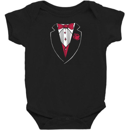 Tuxedo Funny Baby Bodysuit Designed By Dirjaart