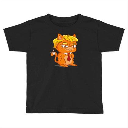Trump Cat Cartoon Toddler T-shirt Designed By Dirjaart