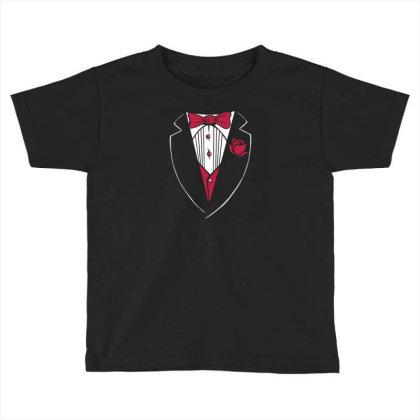 Tuxedo Funny Toddler T-shirt Designed By Dirjaart