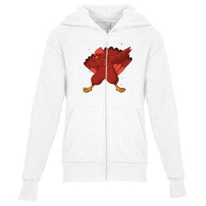 Turkey Dab Youth Zipper Hoodie Designed By Dirjaart