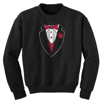 Tuxedo Funny Youth Sweatshirt Designed By Dirjaart