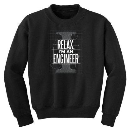 Trust Me Engineer Youth Sweatshirt Designed By Dirjaart