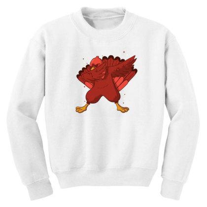 Turkey Dab Youth Sweatshirt Designed By Dirjaart