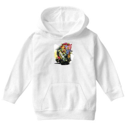Trump Tank Youth Hoodie Designed By Dirjaart