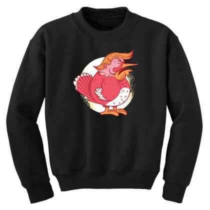 Turkey Trump Youth Sweatshirt Designed By Dirjaart