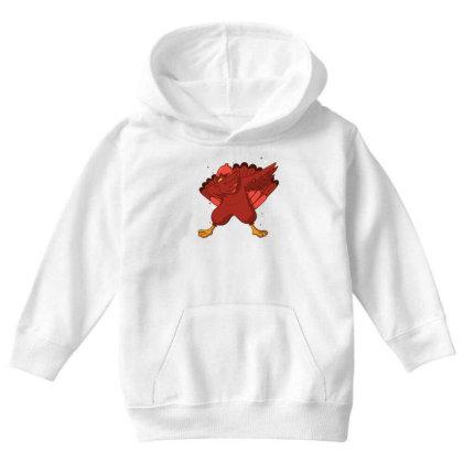 Turkey Dab Youth Hoodie Designed By Dirjaart