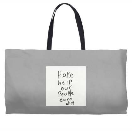 H.o.p.e Weekender Totes Designed By Kiss