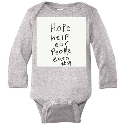 H.o.p.e Long Sleeve Baby Bodysuit Designed By Kiss