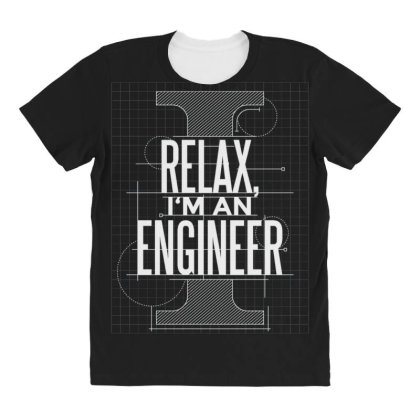 Trust Me Engineer All Over Women's T-shirt Designed By Dirjaart