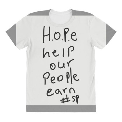 H.o.p.e All Over Women's T-shirt Designed By Kiss