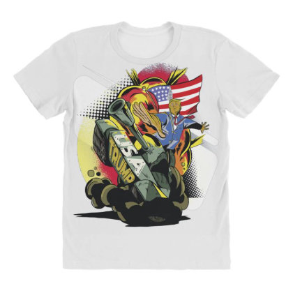 Trump Tank All Over Women's T-shirt Designed By Dirjaart