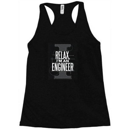 Trust Me Engineer Racerback Tank Designed By Dirjaart