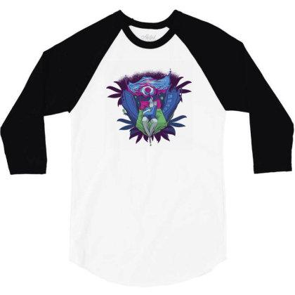 Trippy Portal 3/4 Sleeve Shirt Designed By Dirjaart