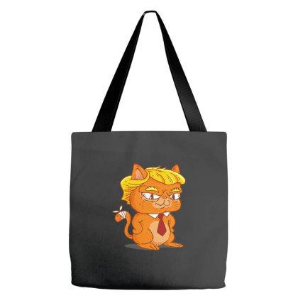 Trump Cat Cartoon Tote Bags Designed By Dirjaart