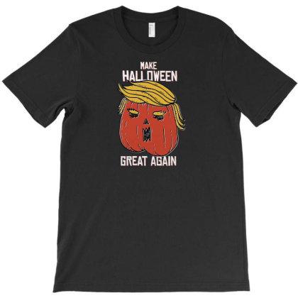 Trumpkin Halloween Pupmkin T-shirt Designed By Dirjaart