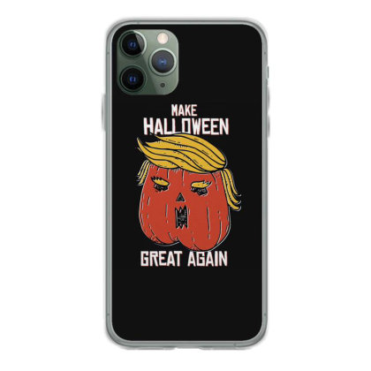 Trumpkin Halloween Pupmkin Iphone 11 Pro Case Designed By Dirjaart