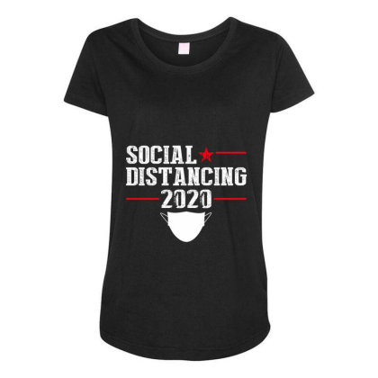 Social Distancing Shirt Maternity Scoop Neck T-shirt Designed By Faical