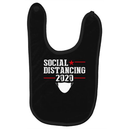 Social Distancing Shirt Baby Bibs Designed By Faical