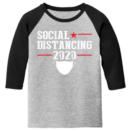 Social Distancing Shirt Youth 3/4 Sleeve Designed By Faical
