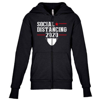 Social Distancing Shirt Youth Zipper Hoodie Designed By Faical