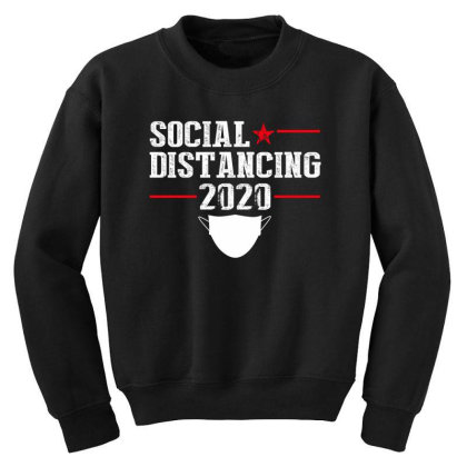 Social Distancing Shirt Youth Sweatshirt Designed By Faical